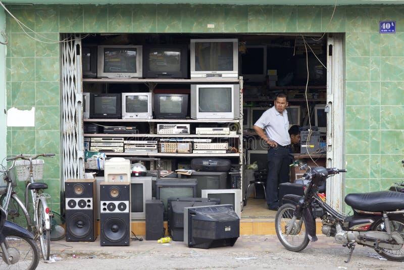 Vendedor ambulante de Vietnam fotos de stock royalty free