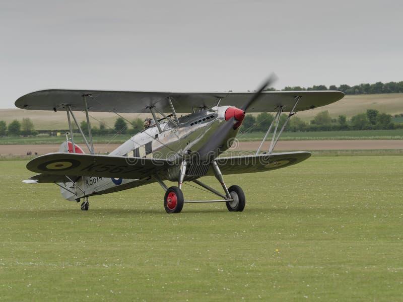 Vendedor ambulante Fury Biplane foto de stock royalty free