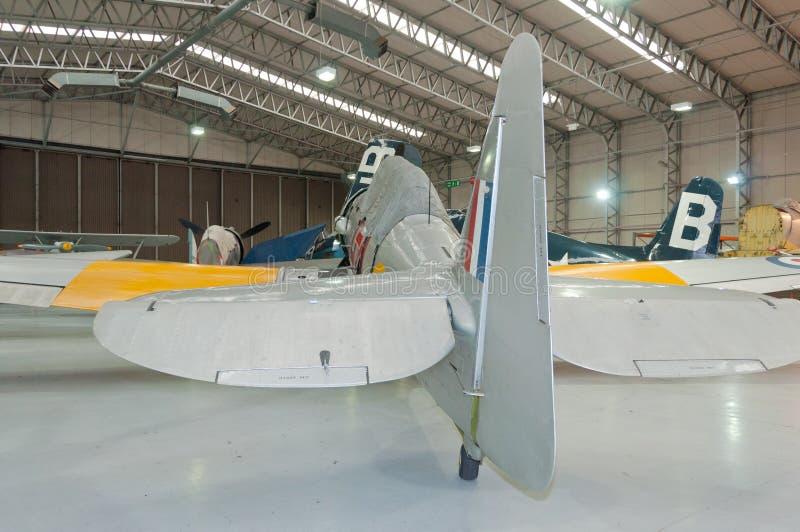 Vendedor ambulante real Sea Fury T da marinha 20 WG655 restaurados, Duxford, IWM fotos de stock royalty free