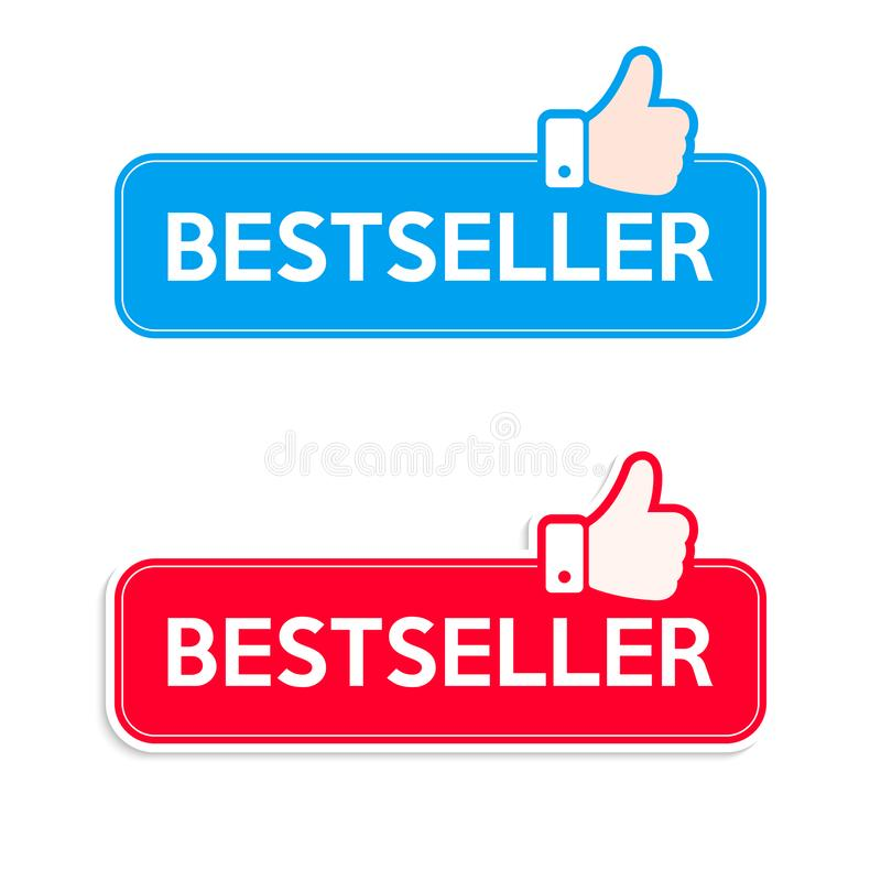 Vendedor Conjunto de ícones Banner de ícones recomendados para cima ilustração royalty free