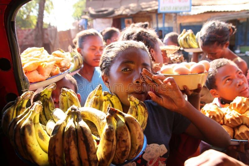 Vendedor da banana fotografia de stock royalty free