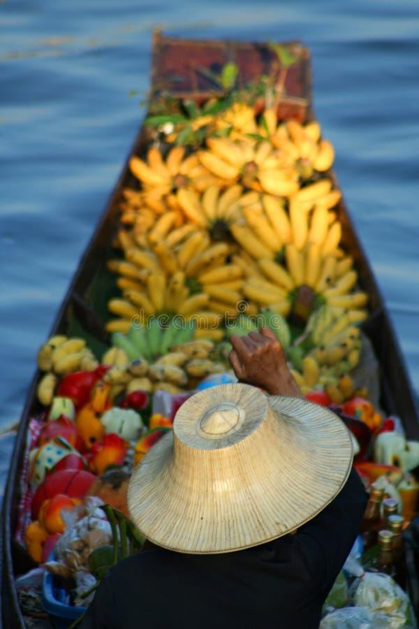 Vendedor da fruta foto de stock