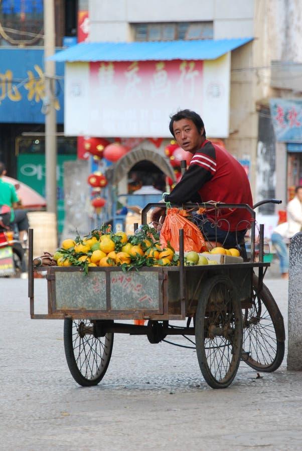 Vendedor de calle chino imagen de archivo