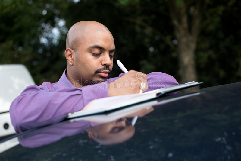Vendedor de carro fotos de stock royalty free