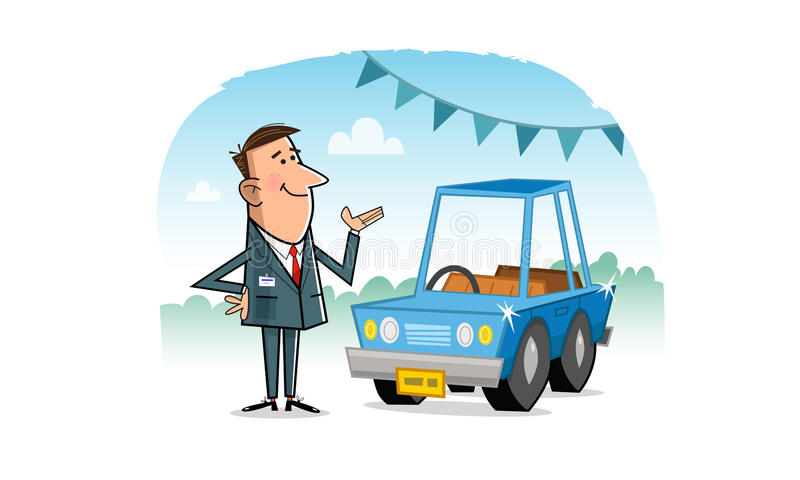 Vendedor de coches libre illustration