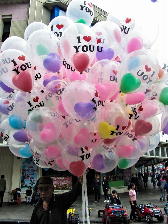 Vendedor de globos imagen de archivo libre de regalías