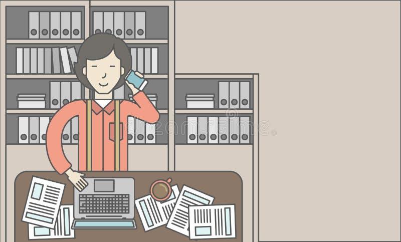 Vendedor de oficina stock de ilustración