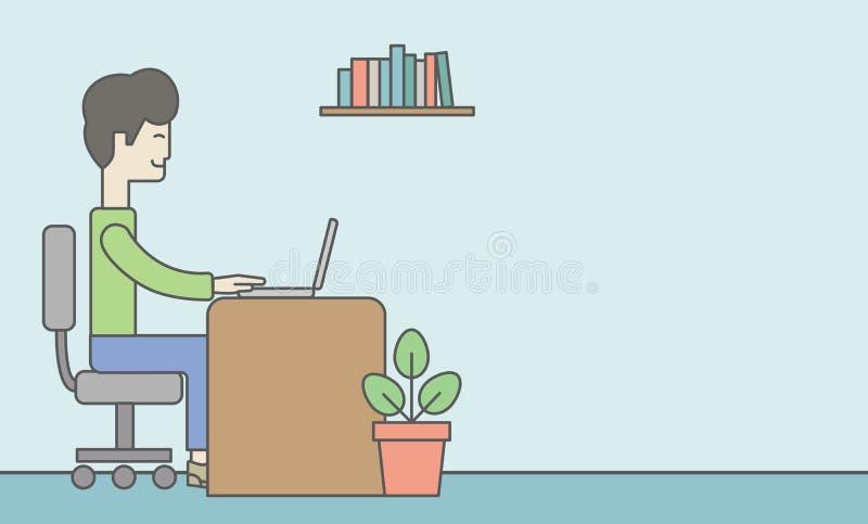 Vendedor de oficina ilustración del vector