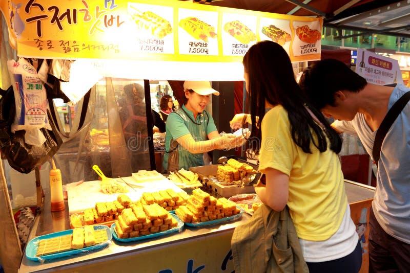 Vendedor de Steet en Corea foto de archivo libre de regalías