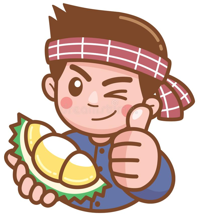 Vendedor del Durian libre illustration
