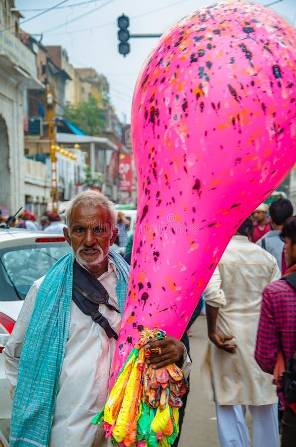 Vendedor del globo fotos de archivo