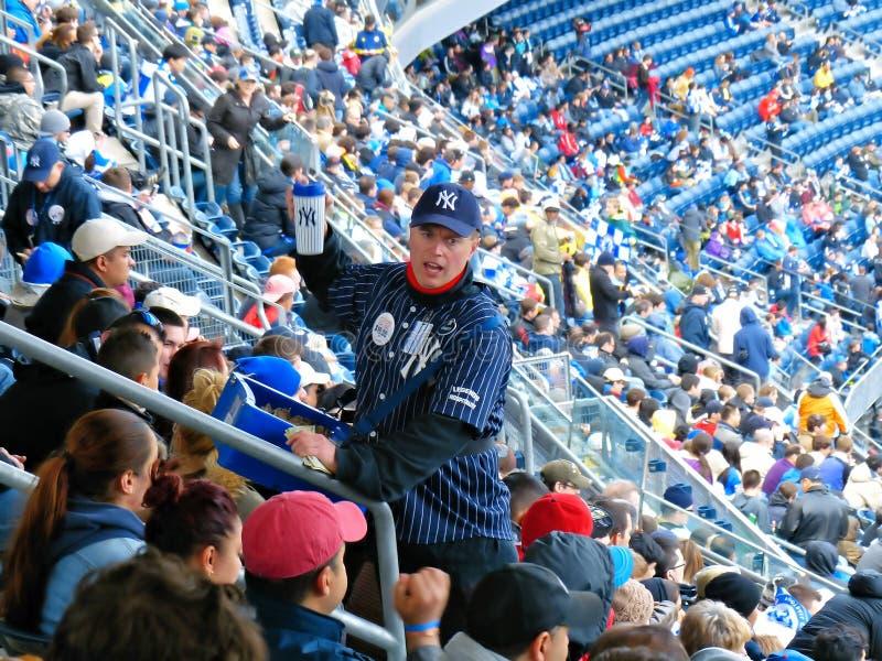 Vendedor del Yankee Stadium foto de archivo libre de regalías