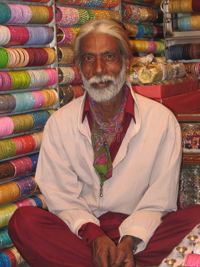 Vendedor Deli India do bracelete foto de stock