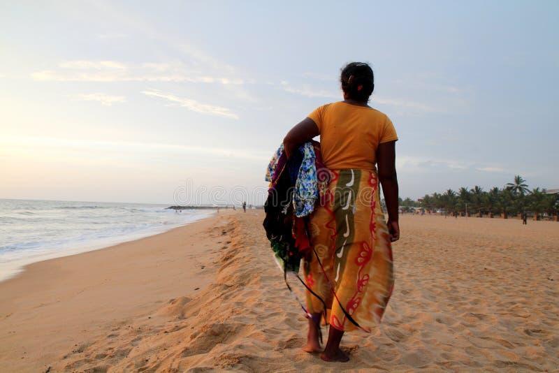 Vendedor do sari imagem de stock