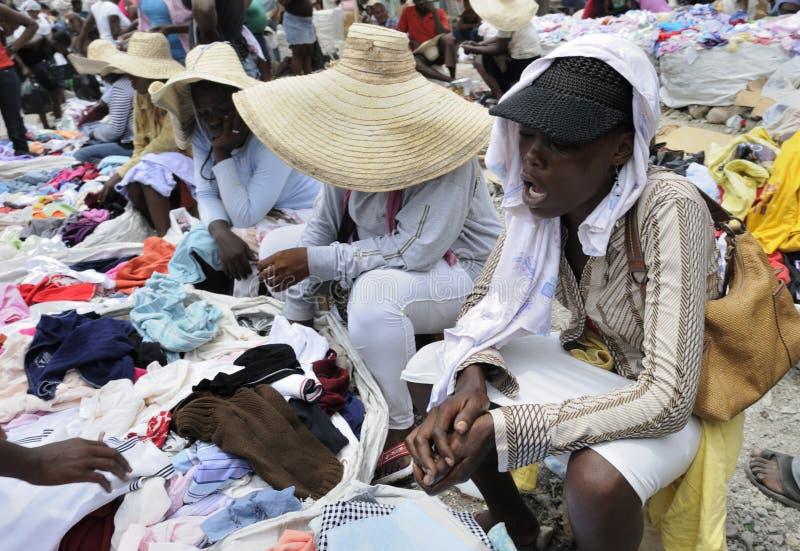 Vendedor Haitiano. Foto de archivo editorial