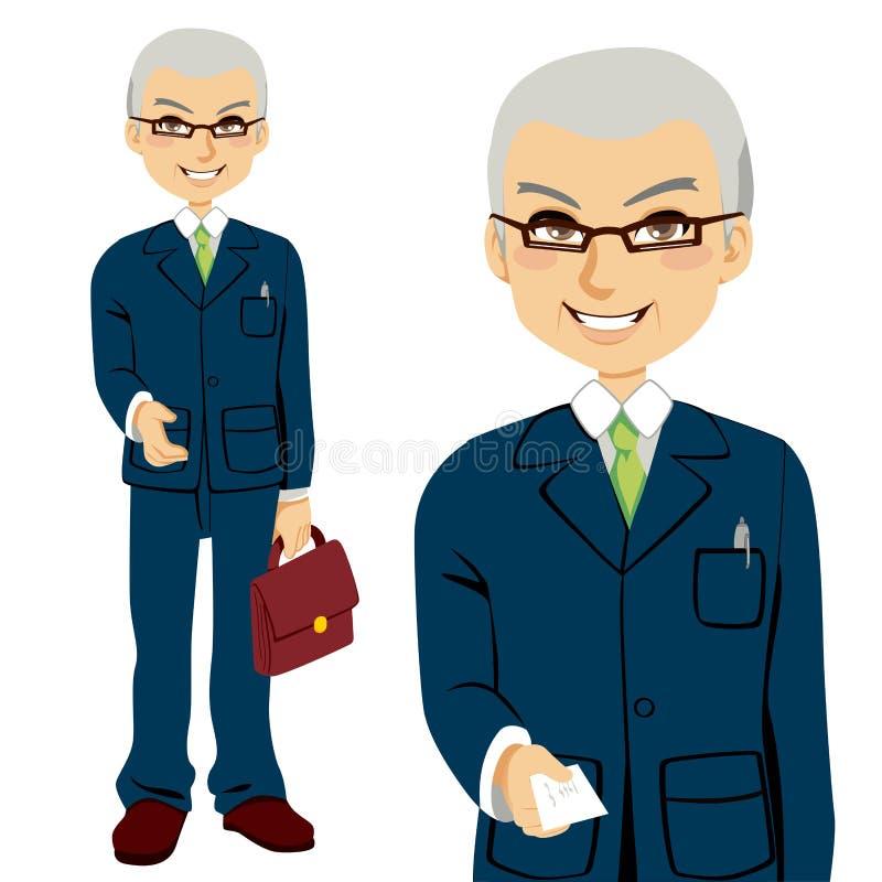 Vendedor mayor stock de ilustración