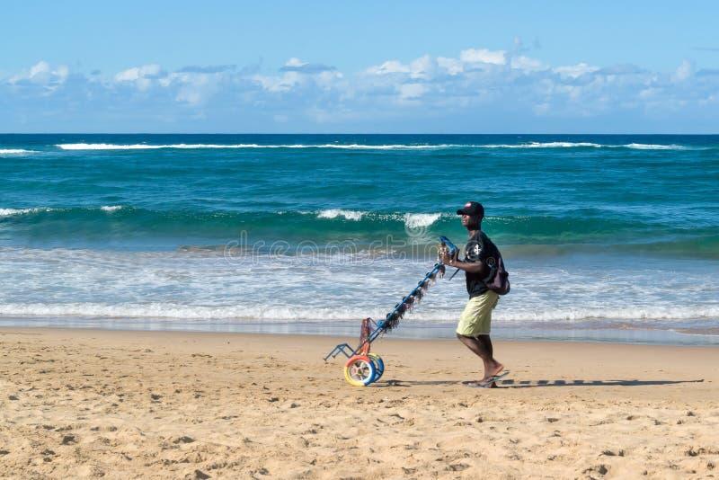 Vendedor Moçambique da lembrança da praia fotografia de stock royalty free