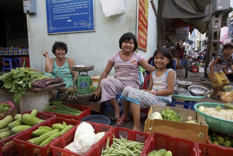 Vendedores ambulantes de Vietnam fotografia de stock