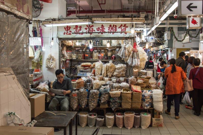 Vendedores ambulantes em Hong Kong imagem de stock