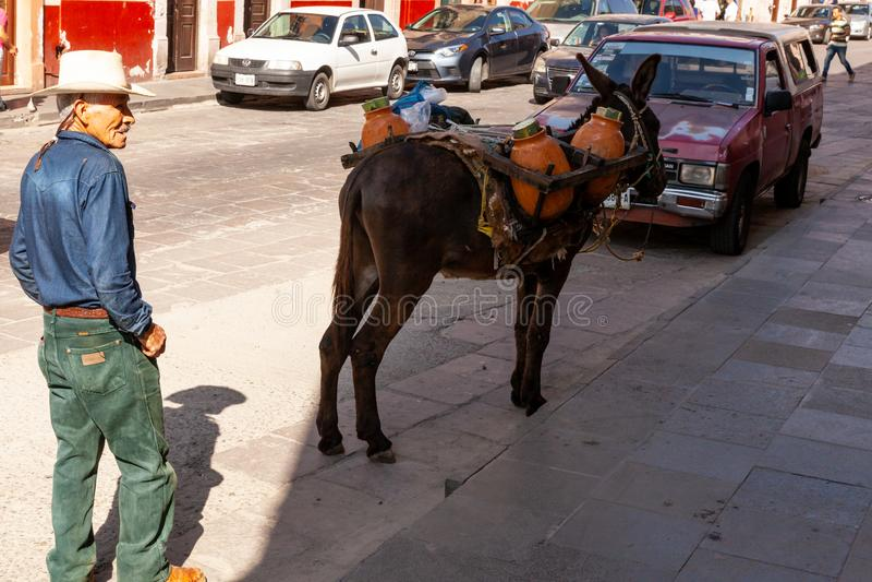 Vendedores ambulantes em Zacatecas México fotos de stock