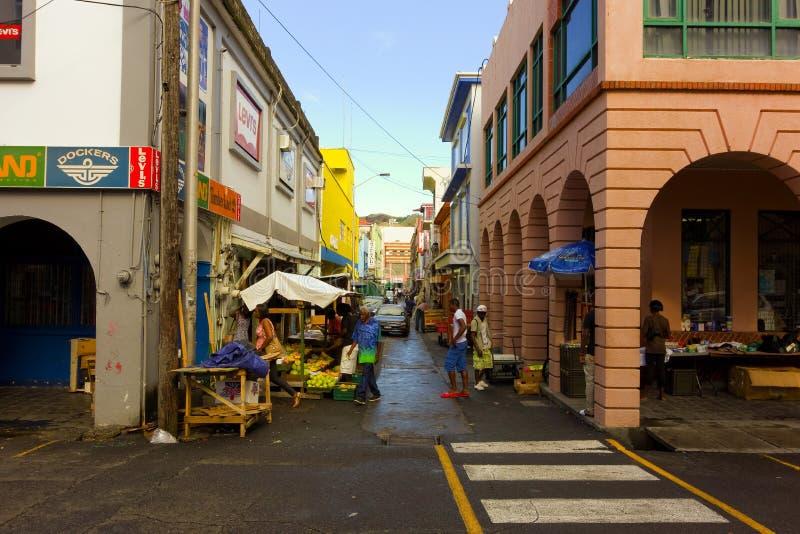 Vendedores ambulantes en el Caribe fotos de archivo
