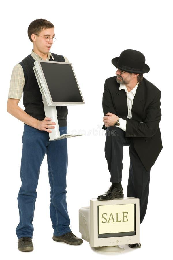Vendedores de ordenadores imágenes de archivo libres de regalías