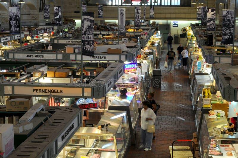Vendedores del mercado del lado oeste fotografía de archivo libre de regalías