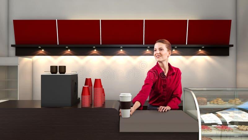 Vendeur de café image libre de droits