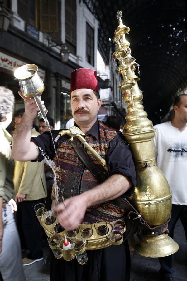 VENDEUR DE JUS DE MOYEN-ORIENT SYRIE DAMASKUS SOUQ photos stock