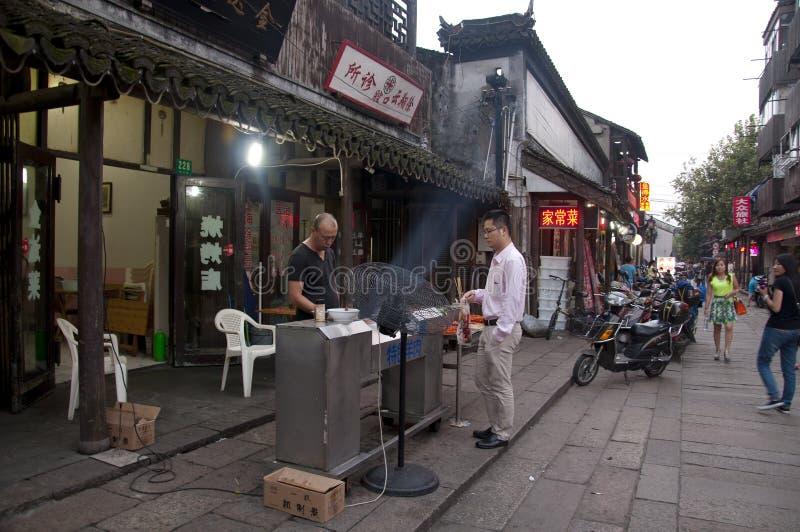 Vendeur de nourriture de rue image stock