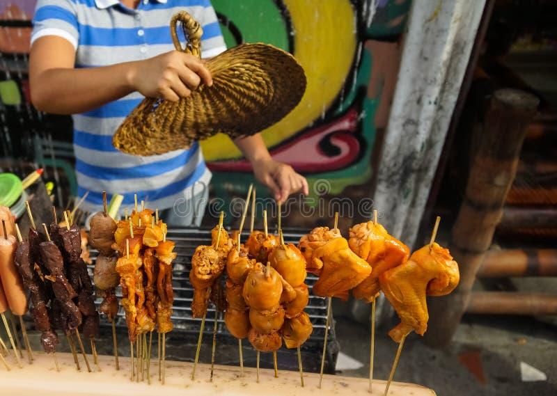 Vendeur de nourriture de rue photos libres de droits