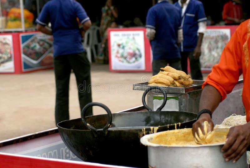 Vendeur de nourriture indien de rue photos libres de droits