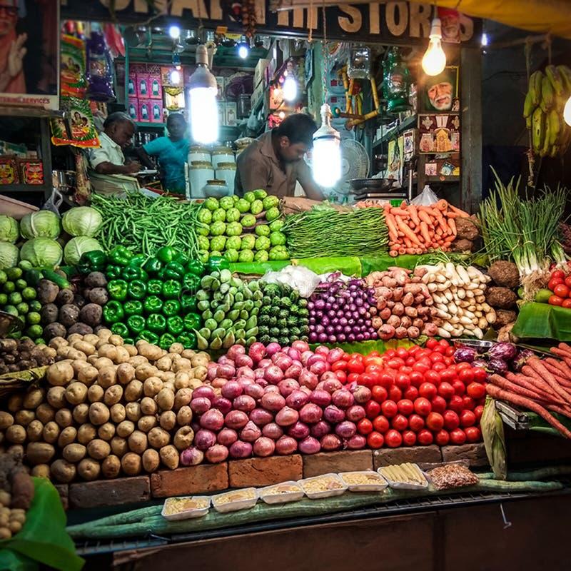 Vendeur végétal image stock