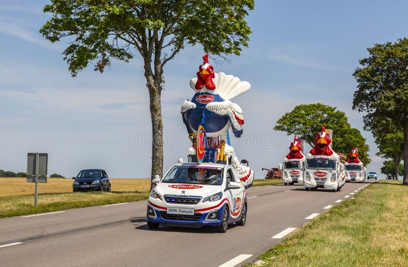 Le Gaulois Caravan - Tour de France 2017 royalty free stock image