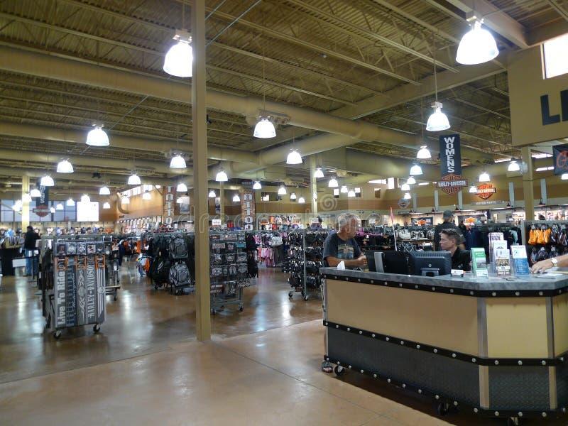 Vendez en vente, Black Hills Harley Davidson, ville rapide, le Dakota du Sud photographie stock libre de droits