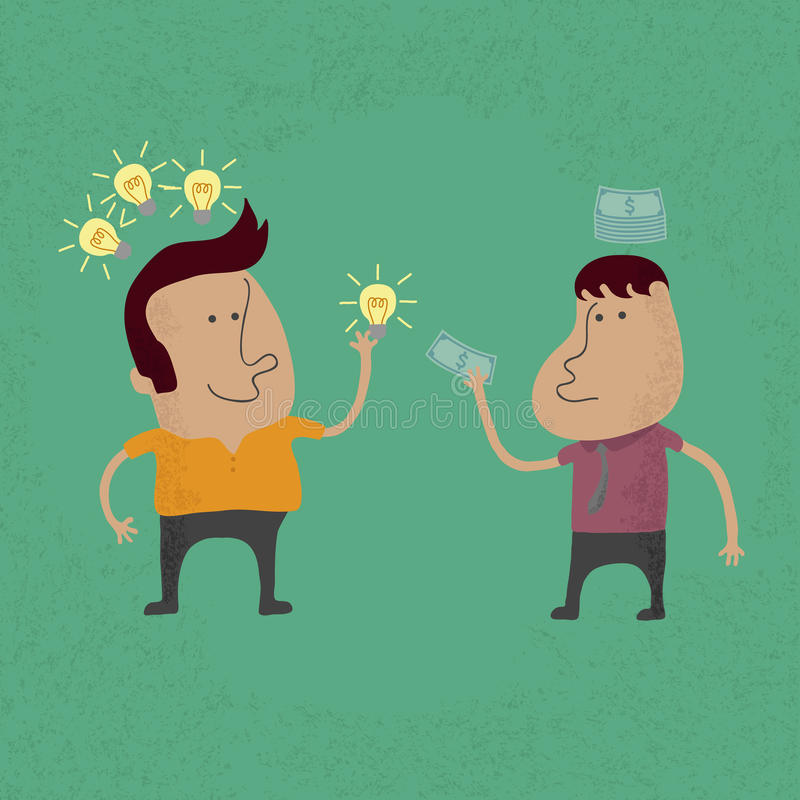 Vendez le format de l'idée ENV 10 illustration stock