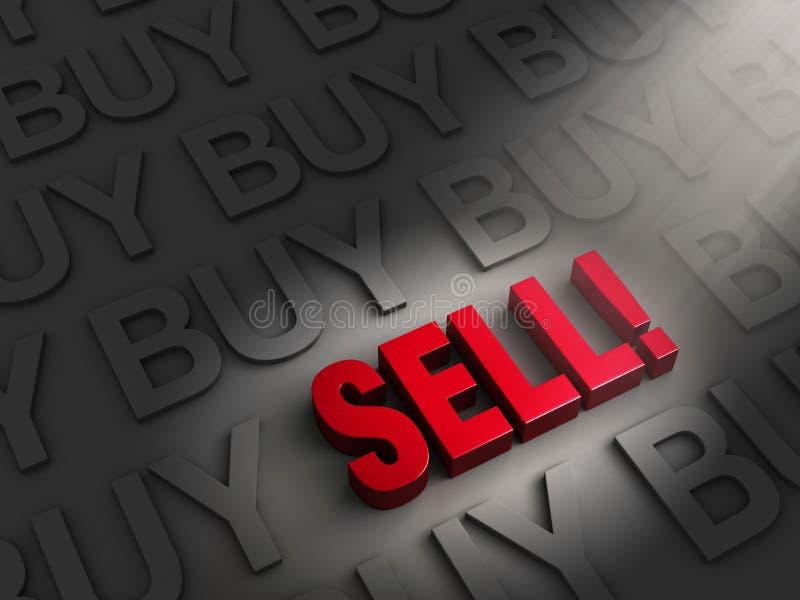 Vendez quand chacun achète illustration de vecteur