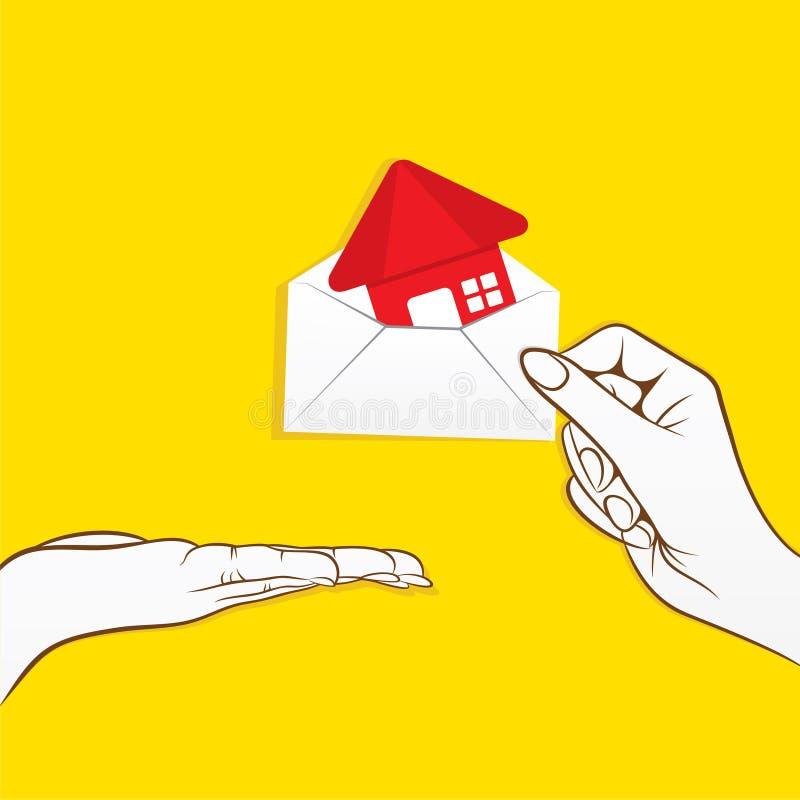 Vendez votre conception à la maison de cconcept illustration de vecteur