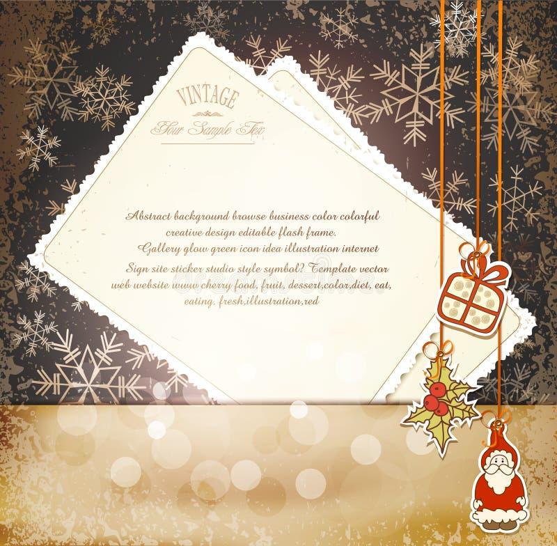 Vendimia, Año Nuevo sucio, fondo de la Navidad libre illustration