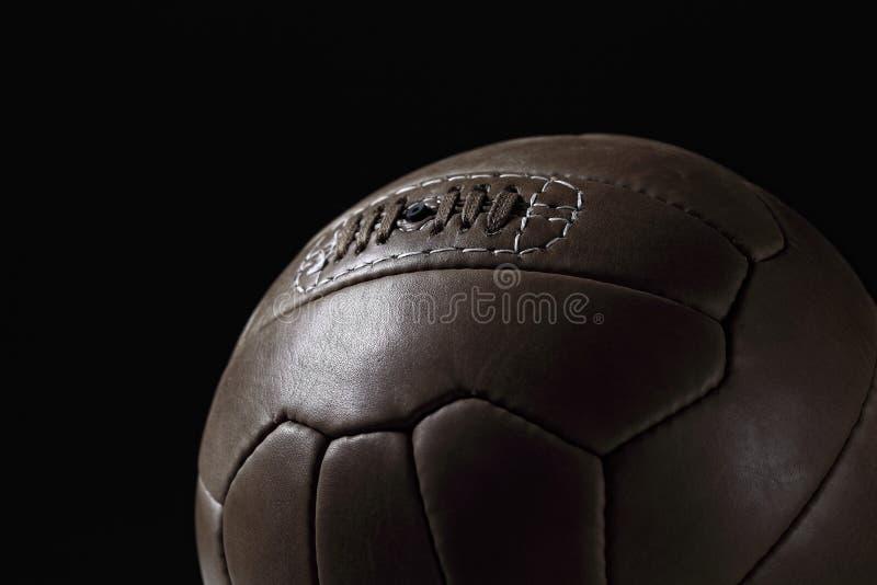 Vendimia del balón de fútbol foto de archivo libre de regalías