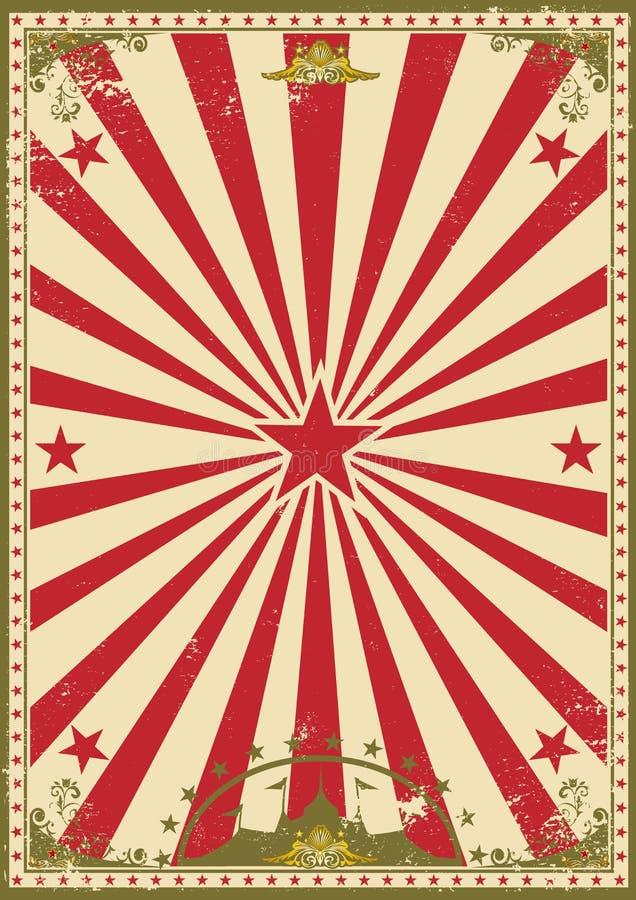 Vendimia del circo stock de ilustración