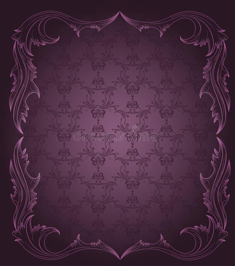 Vendimia, fondo elegante, lujoso stock de ilustración