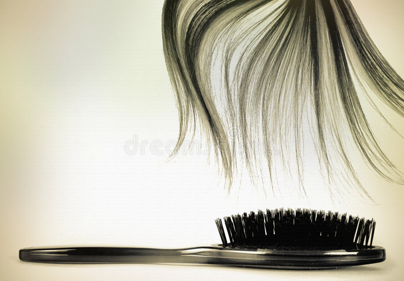 Vendimia larga del cepillo de pelo fotos de archivo