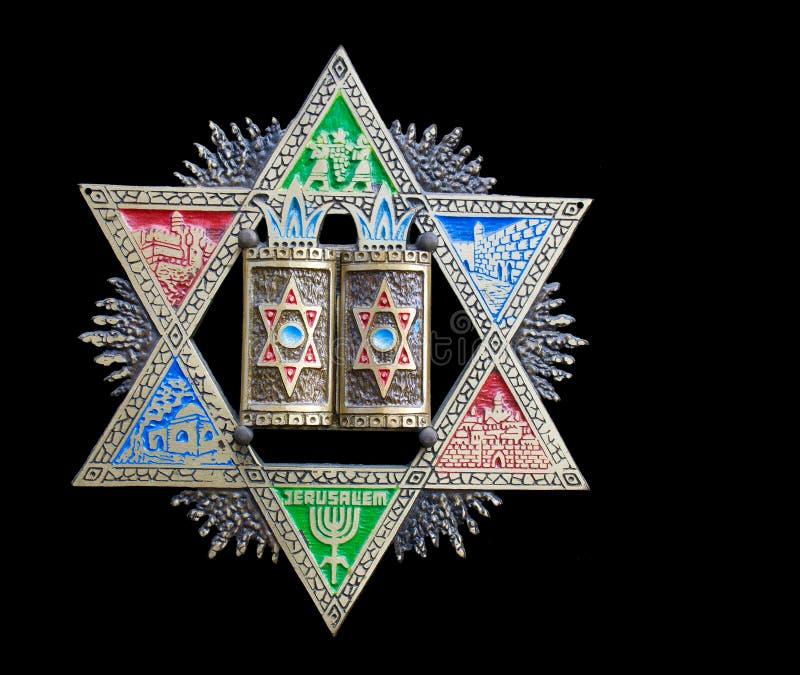 Vendimia Magen David colorido (estrella de David) imágenes de archivo libres de regalías