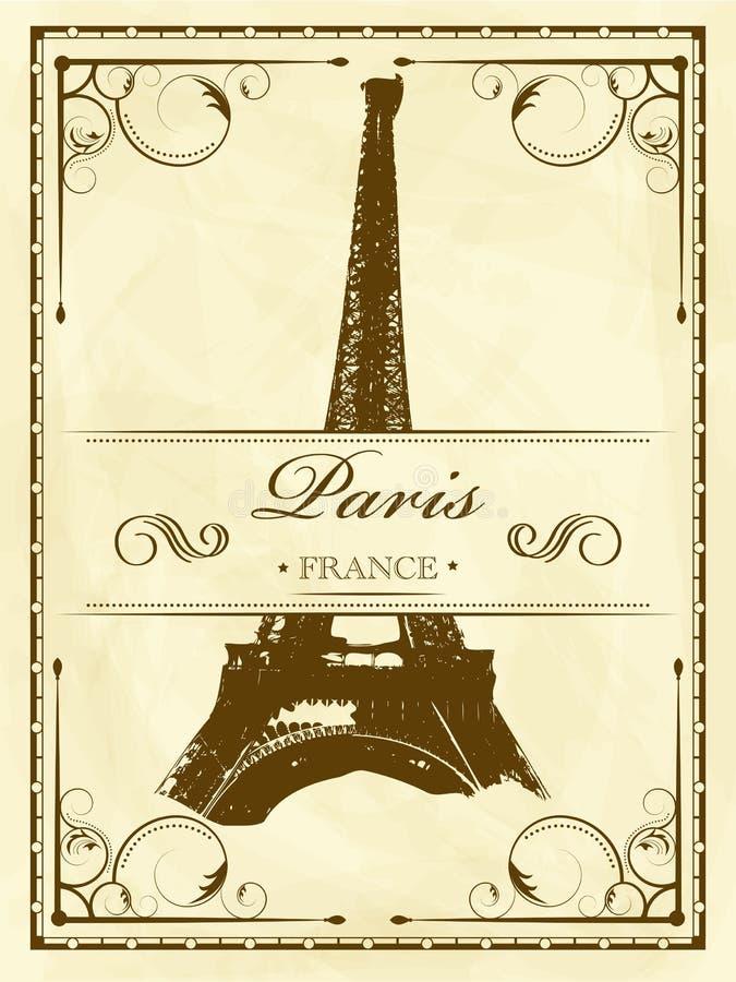Vendimia París ilustración del vector