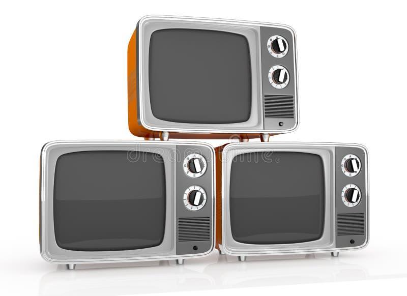 Vendimia TV ilustración del vector