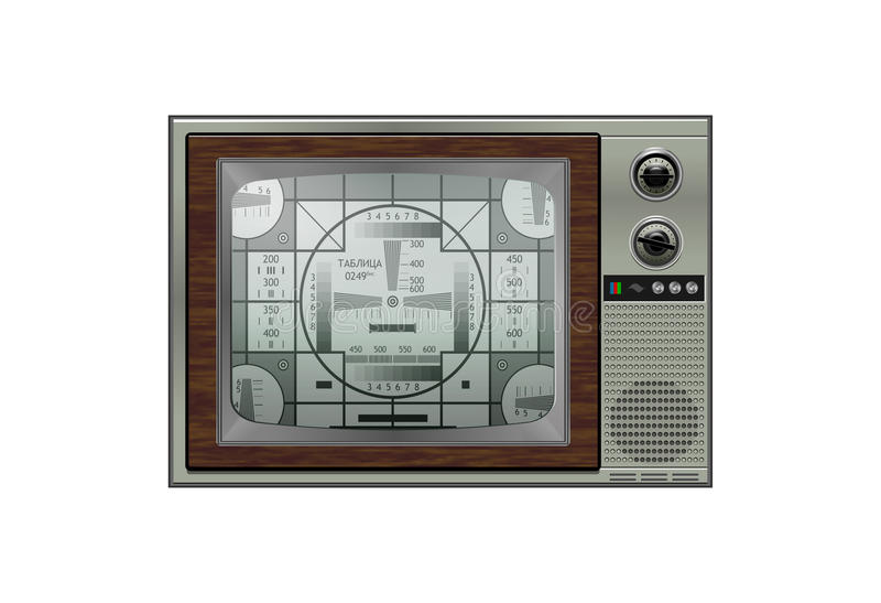 Vendimia TV retra ilustración del vector