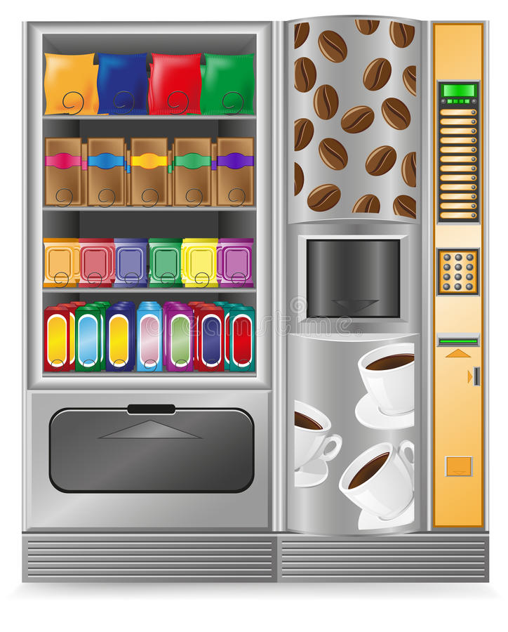 Vending Coffee And Sneck Is A Machine Stock Photography