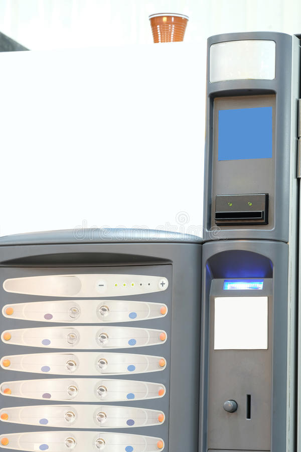 Vending machine. Image of Vending machine close up stock photo