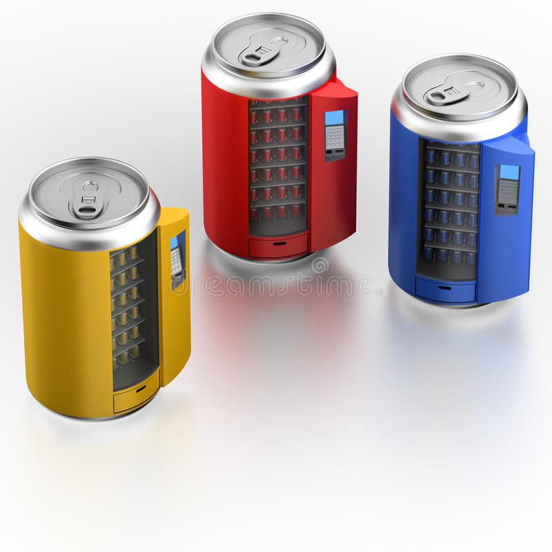 Vending Machine Similar On Can With Beverage Royalty Free Stock Photos